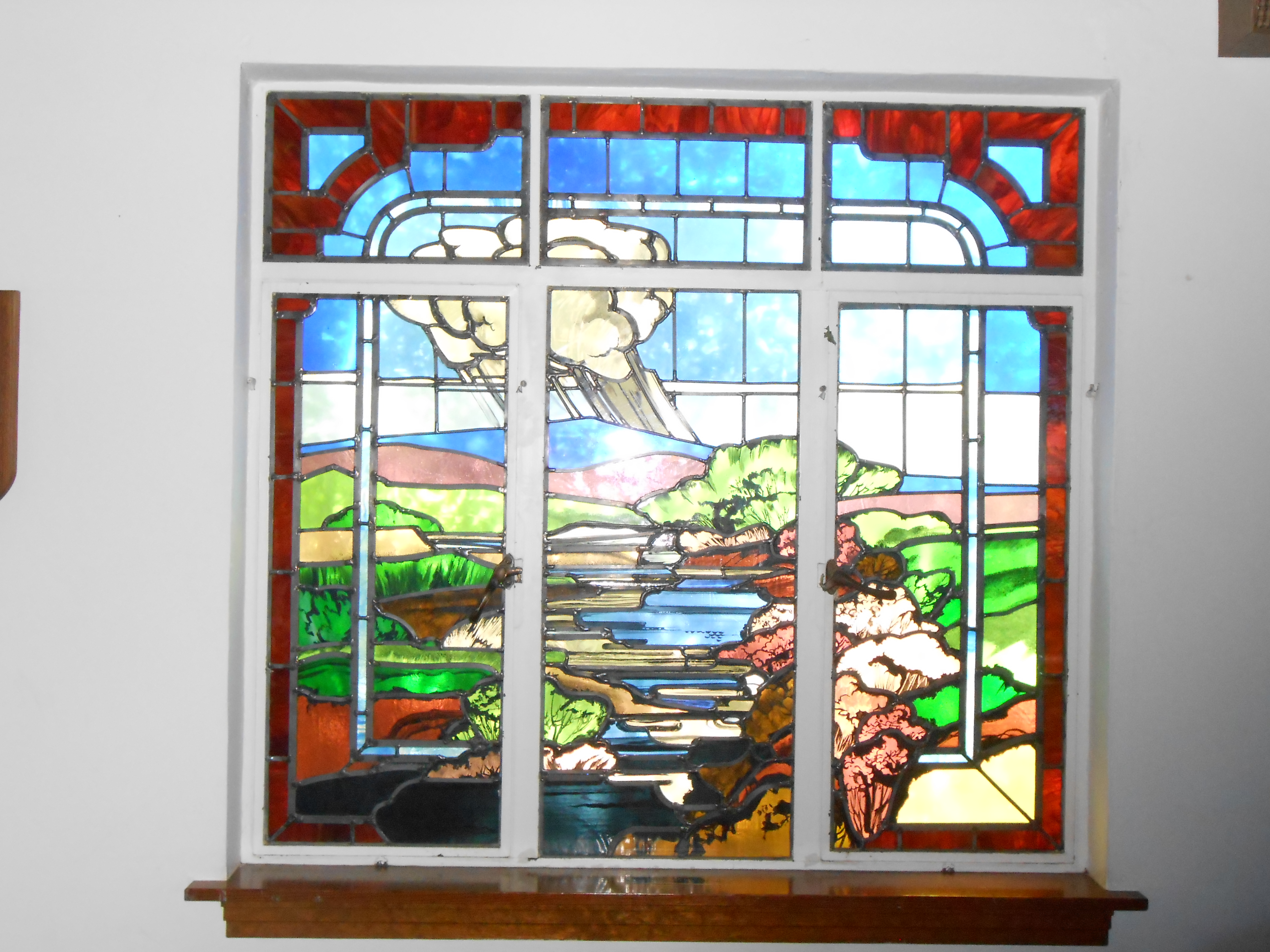Stained Glass at Valley Community Church - Silver City, New Mexico